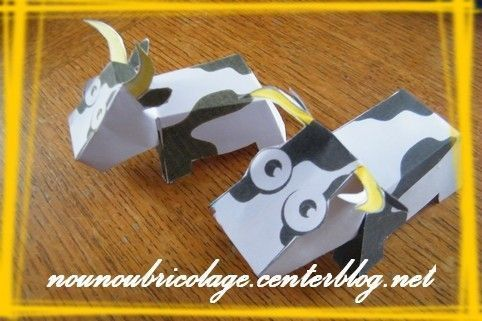 vache en carton