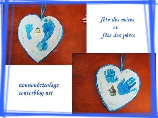 coeur suspendu pour la fête des pères et des mères