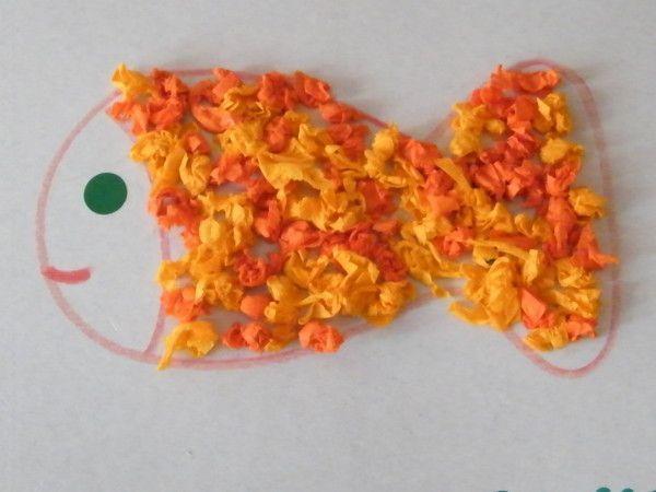 Poisson papier de soie - Creation en papier facile ...