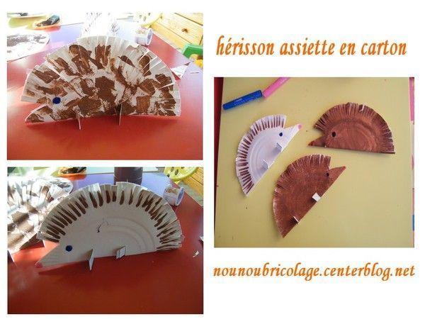 Bricolage assiette en carton - Activite manuelle assiette en carton ...