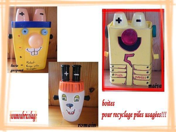 Boite pour recyclage des piles usag es activites - Activites manuelles recyclage ...