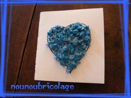 coeur bleu en crépon