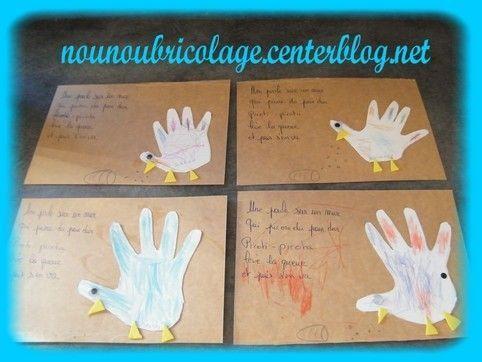 Bricolage avec les mains - Activite manuelle avec empreinte de main ...