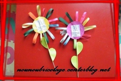 fleur en papier bouclette