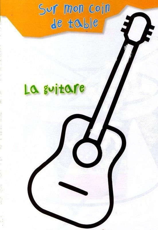 Coloriage guitare imprimer with dessin beau et facile a faire - Dessin facile a faire et beau ...